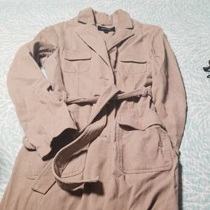 Express Tan corduroy 3/4 length jacket, size 3/4